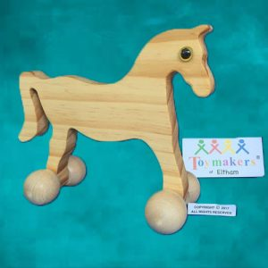 Timber Toy Horse on wheels