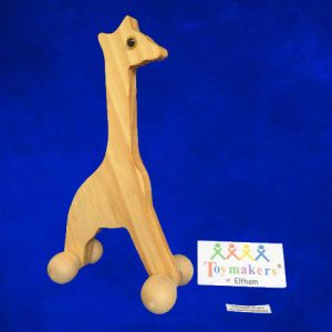 Wooden Giraffe on Rollers - Toymakers of Eltham