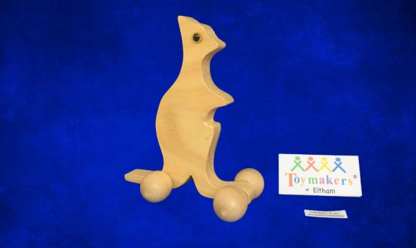 Timber Toy Kangaroo on Wheels