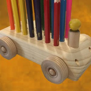Wooden Pencil Trolley Playthings