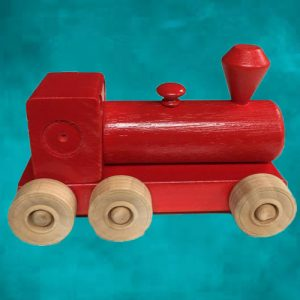 Wooden Steam Train - Red