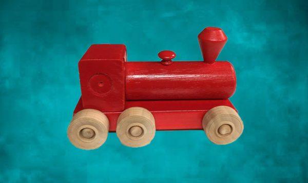 Wooden Steam Train - Red
