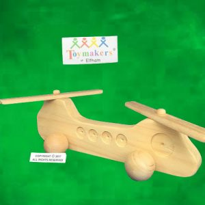 Timber Toy Chinook style Helicopter