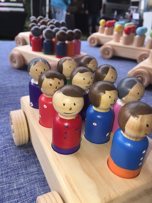 Timber People Bus™ - with hand painted faces